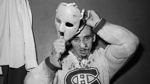One of the few times that putting on a mask is helpful...just ask Jacques Plante knew this.