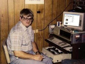 The author as a young man, contemplating his next Pulitzer Prize winning article for the Dungeons and Dragons Newsletter