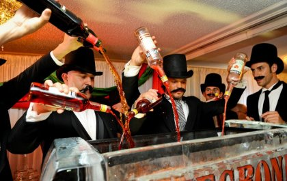 Just another night out with the boys at the hat and moustache club.  Actually, that tub looks a lot like my liver did.