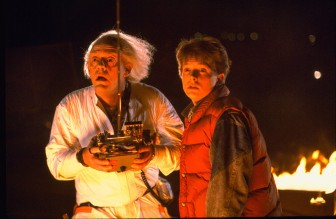 ...and don't hang out with those Bill and Ted guys, kiddo.  And get me some shares in Apple...cheap!