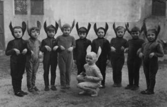 Some old chums of mine from the rabbit hole days.  I am the one with the funny ears.