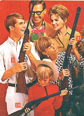 Who knew that guns are the real way to keep the family together?  You can keep your free love, open communication and patchouli oil to yourselves, hippies.