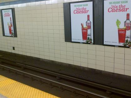 As I got to the subway, these were the media blitz campaign signs that greeted me.  Message received.