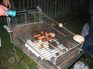 My kind of BBQ - low rent!