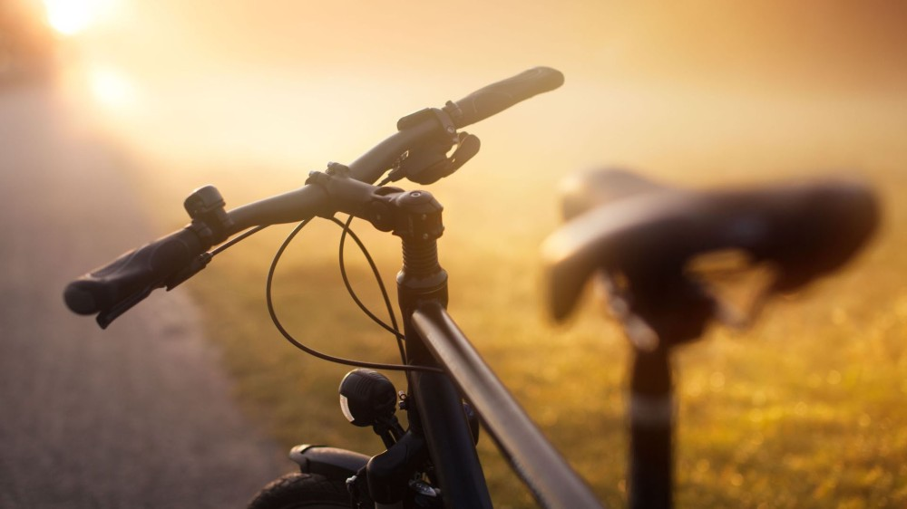 hd-wallpaper-bike-on-sunset